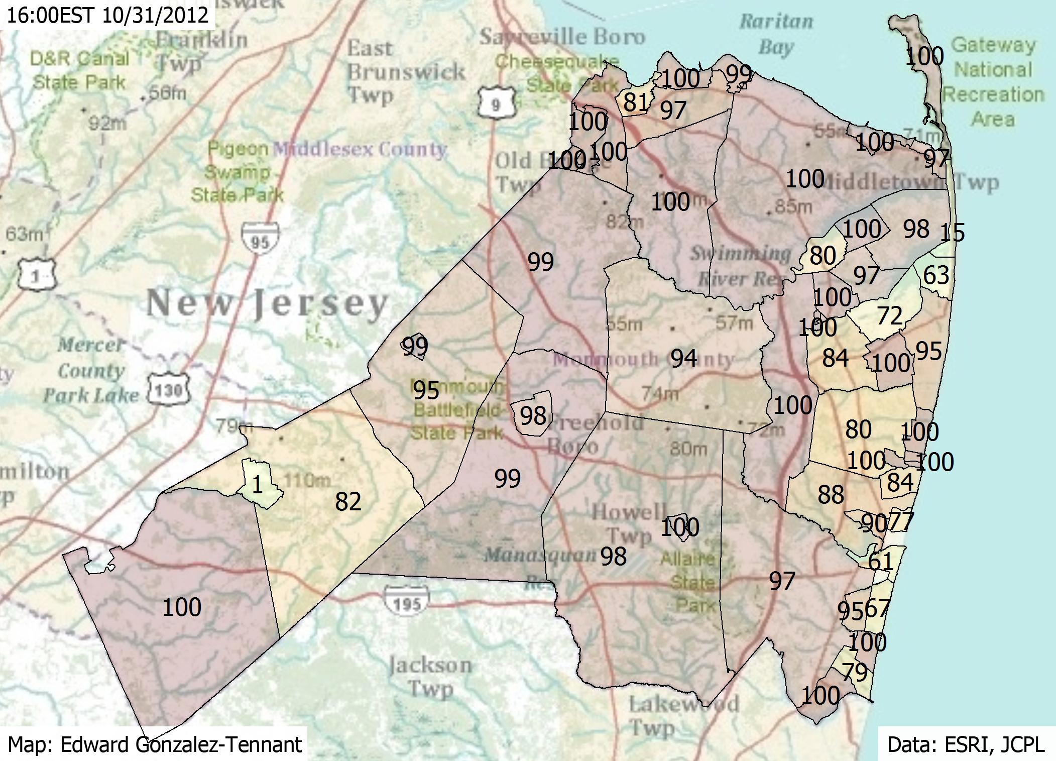 Mapping Hurricane Sandy Edward Gonz 225 Lez Tennant