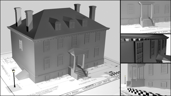 Using 3DS Max to Model the Low House, Piscataway, New Jersey