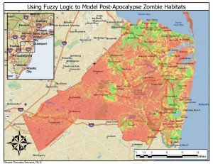 A Zombie Habitat Model Using Fuzzy Logic