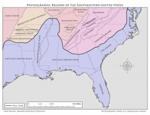 Physiographic Regions of the SE US